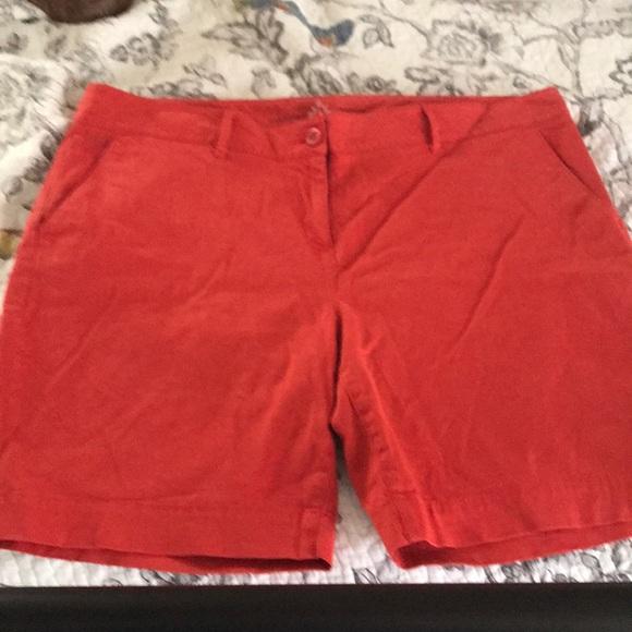 Nautica Pants - Nautica orange Bermuda shorts